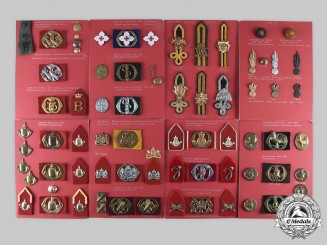 Netherlands, Kingdom. Lot of 177 Army Insignia, c. 1940-1963