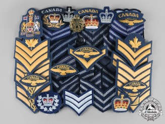 Canada, Commonwealth. A Lot of Forty-One Royal Canadian Air Force (RCAF) Uniform Insignia