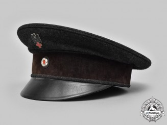 Germany, DRK. An Early German Red Cross Enlisted Personnel Visor Cap