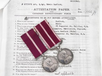 Rare Colonial Meritorious Service Pair
