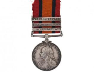 Queen's South Africa Medal, Pte.Milliken, R.C.R.