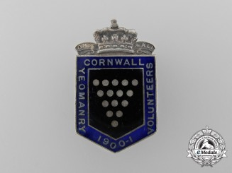 A Boer War Cornwall Yeomanry Volunteers Badge 1900-1901