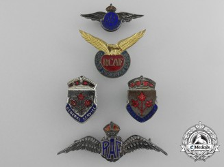 Five Second World War Badges