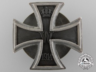 A High Quality Iron Cross First Class 1914; Silver Screwback