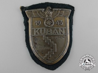 A Wehrmacht Army Issued Kuban Campaign Shield
