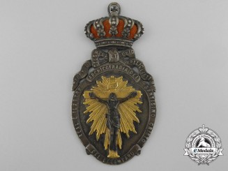 Spain, Kingdom. A Royal Spanish Illustrious Confraternity of the Holy Christ of Helplessness Medal