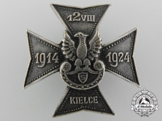 Poland. A Veterans Badge for 10th Anniversary of the Liberation of the City of Kielce 1914-1924