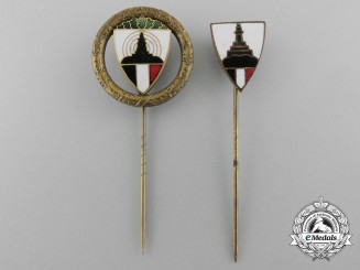Two Kyffhäuser League Veterans Association Shooting Award Stickpins