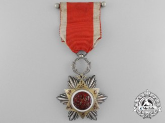 A Moroccan Order of Ouissam Hafidien; 5th Class Knight