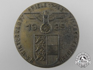 A 1939 National Socialist Winter Camp Games at Villach-Karnten Badge