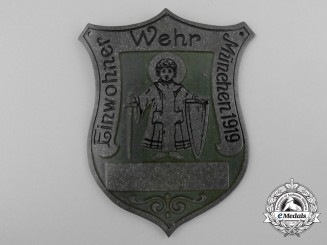 A 1919 Munich Home Guard Sleeve Badge