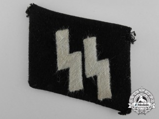 A Waffen-SS EM/NCOs Runic Collar Tab; RZM Tag & Tunic Removed