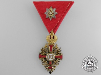 An Austrian Order of Franz Joseph; Knight with Grand Cross Decoration