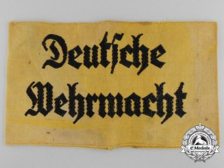 A Deutsche Wehrmacht Volunteer Assistant Armband