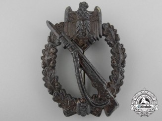 A Bronze Grade Infantry Badge; Rare Maker