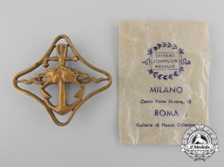 An Italian Regia Marina Cruisers War Navigation Badge (2nd Degree) with Packet