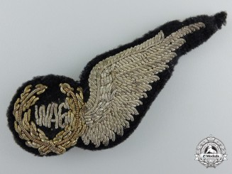 A  Royal Air Force (RAF) Wireless/Air Gunner (WAG) Wing with Pinback