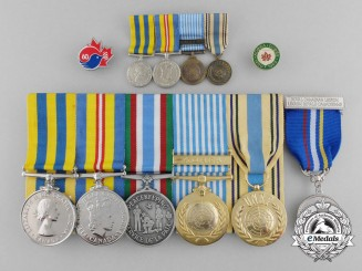 A Canadian Korean War & Peacekeeping Medal Grouping