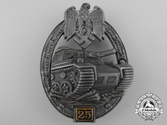 A Bronze Grade Tank Badge by Gustav Brehmer; Special Grade 25