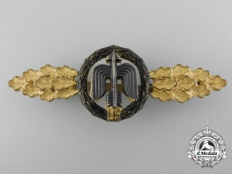 A Luftwaffe Short Range Night fighter Clasp; Gold Grade