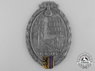 Germany, NSKK. A Motorgruppe Leipzig Plaque by Wilh. Helbing, Lepzig, c.1937