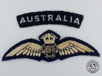 A Royal Australian Air Force (RAAF) Pilot Wings with Shoulder Flash