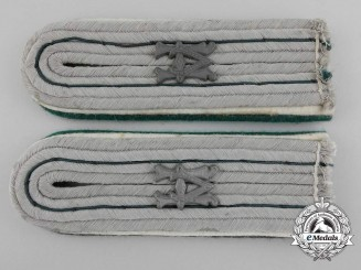 A Set Of German Army Administrator's Shoulder Boards