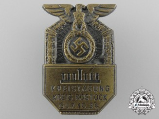 A 1934 Rostock District Day Badge