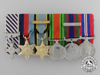 A Second War Canadian Distinguished Flying Cross Miniature Group