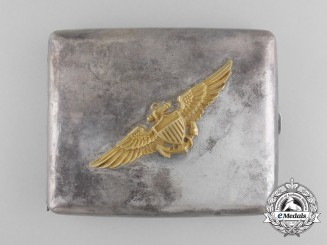 United States. A Naval Aviation Pilot's Cigarette Case, c.1918