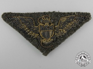 An American Naval Aviation Pilot Embroidered Badge