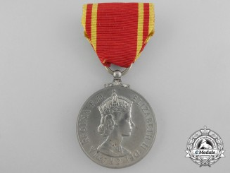 A British Fire Brigade Long Service Medal