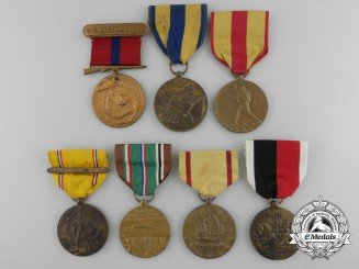 Seven Second War Period American Campaign Medals