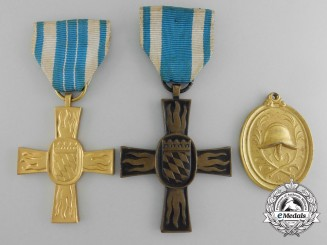 Three Bavarian Firefighter's Medals and Awards
