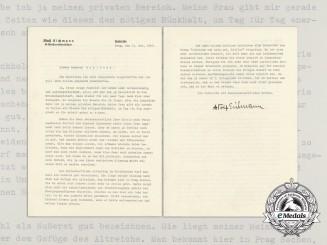 A Letter by SS-Obersturmbannführer Adolf Eichmann
