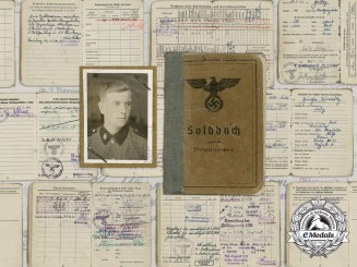 "An SS Soldbuch to the Leibstandarte SS ""AH"""