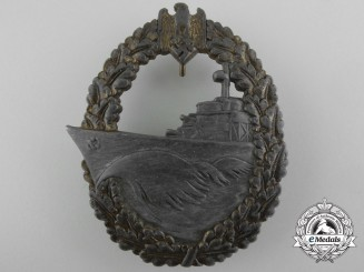 A Kriegsmarine Destroyer War Badge by Josef Feix Sohne