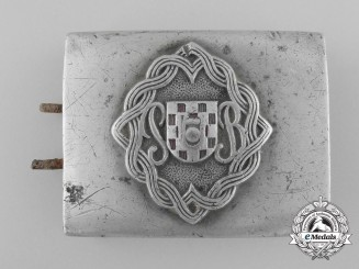 WW2 Croatian Buckle, worn by the Ustaša Battalion »Grič«