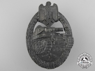 A Bronze Grade Tank Assault Badge by R. Souval