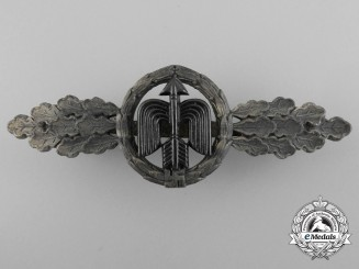 A Silver Grade Short-Range Luftwaffe Day Fighter Clasp by G.H. Osang, Dresden
