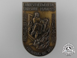 "A 1939 Karlsruhe ""Day of the Fire Brigade"" Badge"