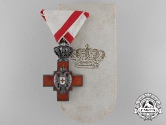 A Serbian Cross of the Red Cross Society 1882-1941 with Case