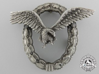A Luftwaffe Pilot's Badge by Assmann with Post-War Alteration