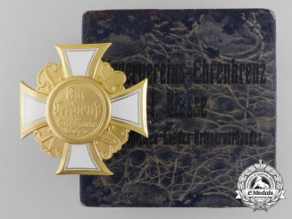 A Mint German War Veteran's Honor Cross; 1st Class with Box