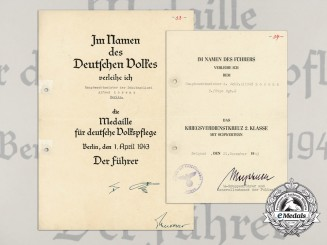 Two Documents to Alfred Lorenz; Social Welfare & Promotion Document