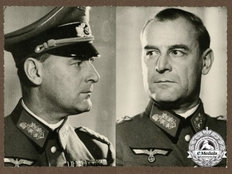 Two Period Photos of a Wehrmacht General