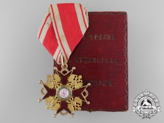 A Russian Imperial Order of St. Stanislaus in Gold; 3rd Class with Case by Albert Keibel