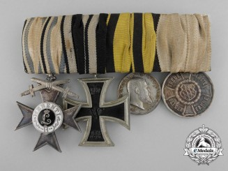 A First War Bavarian Military Merit Cross & Long Service Medal Bar