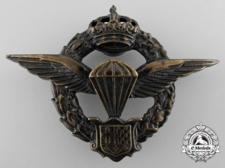 Yugoslavia, Kingdom. A Rare Paratrooper's Badge c.1941