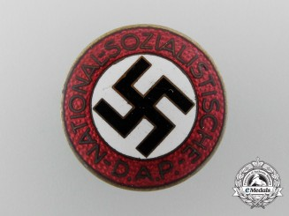 A NSDAP Party Member Lapel Badge by Fritz Zimmermann